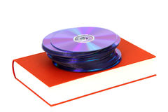 Book with DVDs Royalty Free Stock Photos
