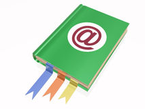 Book with e-mail sign Stock Image