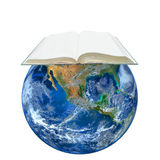 Book on Earth  ,including elements furnished by NASA Stock Image