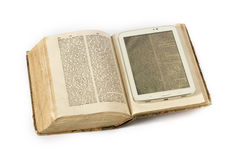 Book and ebook reader Royalty Free Stock Photo