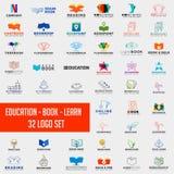 book education logo collection design abstract,education logo set download