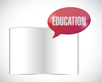 Book education message illustration design Stock Image