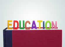Book with education paper cut. Education is important to children Royalty Free Stock Images