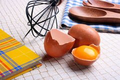 Book and eggs Royalty Free Stock Photo