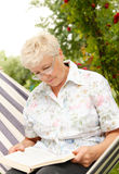 book elderly Στοκ Εικόνα