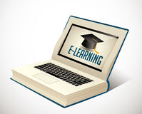 Book of elearning - Ebook learning Stock Images