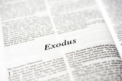Book of Exodus. One of the 66 books in the Bible Stock Photography