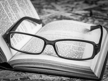 book exponeringsglas Arkivfoton