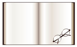 Book and eyeglass Stock Image