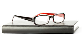Book with eyeglass Royalty Free Stock Photo