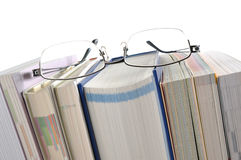 Book with Eyeglasses Royalty Free Stock Photos
