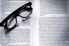 Book, Eyeglasses, Eyewear Stock Photo
