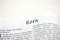 Book of Ezra. One of the 66 books in the Bible royalty free stock photo