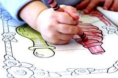 book färgläggningen Arkivfoto