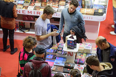 Book Fair. Bucharest, Romania – November 21, 2015: People at the Gaudeamus Book Fair at Romexpo in Bucharest, Romania Stock Photography