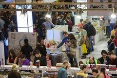 Book Fair. Bucharest, Romania – November 21, 2015: People at the Gaudeamus Book Fair at Romexpo in Bucharest, Romania Stock Photos