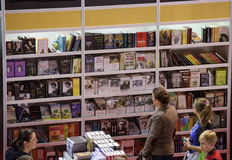 Book Fair. Bucharest, Romania – November 21, 2015: People at the Gaudeamus Book Fair at Romexpo in Bucharest, Romania Stock Images