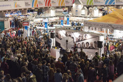 Book Fair. Bucharest, Romania – November 21, 2015: People at the Gaudeamus Book Fair at Romexpo in Bucharest, Romania Stock Photos