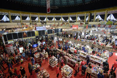 Book Fair. Bucharest, Romania – November 21, 2015: People at the Gaudeamus Book Fair at Romexpo in Bucharest, Romania Stock Photo