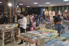 Book Fair. Bucharest, Romania – November 21, 2015: People at the Gaudeamus Book Fair at Romexpo in Bucharest, Romania Royalty Free Stock Images