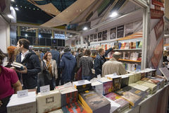 Book Fair. Bucharest, Romania – November 21, 2015: People at the Gaudeamus Book Fair at Romexpo in Bucharest, Romania Stock Image