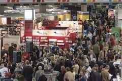 Book Fair. Bucharest, Romania – November 21, 2015: People at the Gaudeamus Book Fair at Romexpo in Bucharest, Romania Royalty Free Stock Photo
