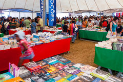 Book Fair at the Festa do Avante Festival. Seixal, Portugal - September 5, 2015: Book Fair at the Festa do Avante Festival. The largest and most important stock image