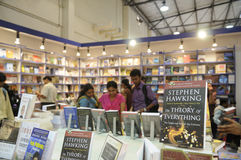 Book Fair in Kolkata. KOLKATA- FEBRUARY 4: A Stephen Hawking book on display during the 2011 Kolkata Book fair in Kolkata, India on February 4, 2011 royalty free stock photo
