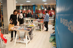 Book fair and people Stock Images