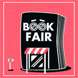 Book fair sale black and red color Royalty Free Stock Images