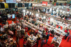 Book fair stands. And buyers at gaudeamus 2015 held in bucharest romania Royalty Free Stock Image