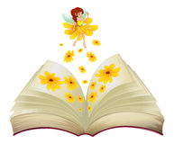 A book with a fairy and flowers Stock Image