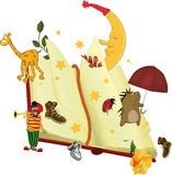 The book of fairy tales. Toys umbrella animals Stock Photo