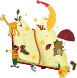 The book of fairy tales. Toys umbrella animals stock illustration