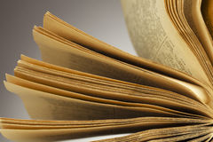 Book with fantail  sheets Stock Images