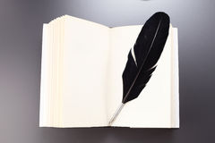 Book and feather Royalty Free Stock Photo