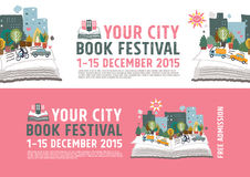 Book Festival poster concept Royalty Free Stock Image
