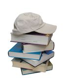 A book file and hat. Idea of the book file with hat decoration Stock Images
