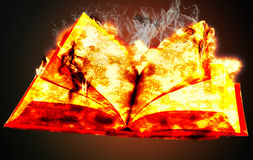 Book on fire Royalty Free Stock Image