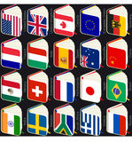 Book flags popular. Vector illustration of book flags from popular countries stock illustration