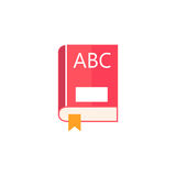 Book flat icon, education and school element. Alphabet vector graphics, a colorful solid pattern on a white background, eps 10 Royalty Free Stock Image