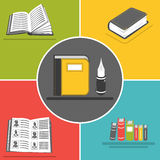 Book flat icons Royalty Free Stock Photos