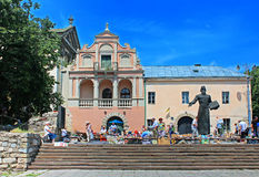 Book flea market, Lviv, Ukraine Royalty Free Stock Images