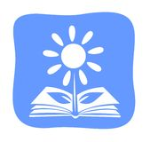 Book-flower Stock Image