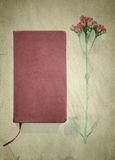 Book and flower vintage Postcard Effect Royalty Free Stock Image