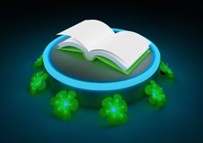 Book and flowers Royalty Free Stock Photography