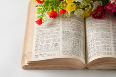 Book and flowers Royalty Free Stock Image
