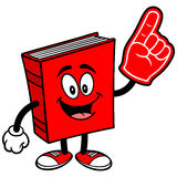 Book with Foam Finger Royalty Free Stock Photos