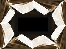 Book frame stock photo