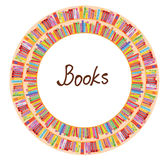 Book frame circle design Royalty Free Stock Images
